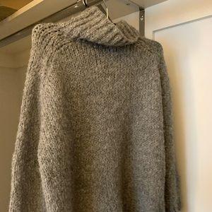 Zara Knit light Grey Turtleneck Sweater